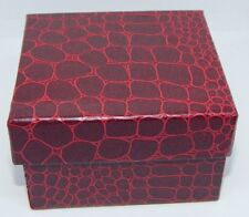 Snake Skin (New) Cardboard Presentation Watch Box/Faux
