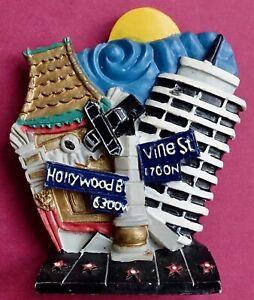 Souvenir Fridge Magnet Hollywood And Vine California USA