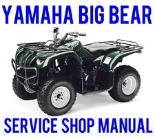 BEST 1996 1997 1998 1999 Yamaha Big Bear YFM350 350 4x4 Service Repair Manual CD