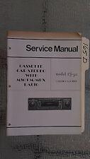 Boman? cj-30 31 32 seriesservice manual stereo car radio tape deck player