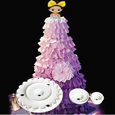 3D Barbie Skirt Cutter Fondant Cake Decorating Sugarcraft Embosser Mold Diy Tool