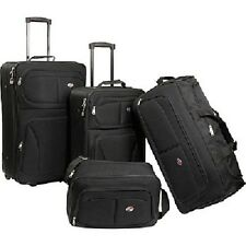 Luggage Set For Men Women Wheels Black Travel Suitcase Carry On Duffel Tote