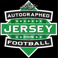 2019 LEAF AUTOGRAPHED FOOTBALL JERSEY EDITION BOX BLOWOUT CARDS