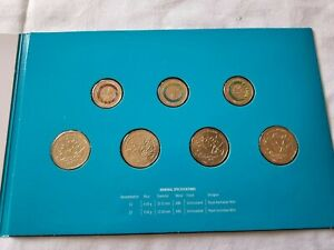 2018 Gold Coast Commonwealth Games 7 Coin Uncirculated Set in Folder