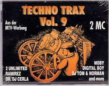 Techno Trax Vol. 9 by Various Artists (Cassette, 1993, 2 Tapes, ZYX Music)