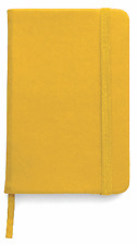BLOCK NOTES,QUADERNO APPUNTI,rigido 100 pag f.to a6,per borsa o tascabil GIALLO