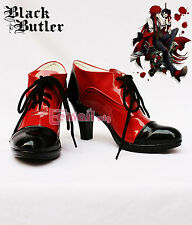 Kuroshitsuji Black Bulter Grell Sutcliff Cosplay Costume shoes Boots Customized