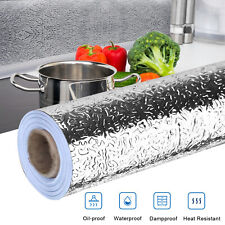 16in*39in Self Adhesive Waterproof Oil-proof Aluminum Foil Kitchen Wall Sticker
