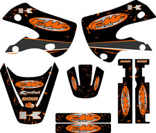 Kawaskai KLX 110 Graphic Kit 02-09 FMF Exhaust Graphics Decal Sticker KLX110 ORG