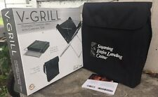 Picnic Time V-Grill Portable Folding Charcoal BBQ Mini Grill Carrying Tote