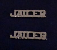"SGT Sergeant Chevrons 3//4/"" REGULAR SILVER Pair Collar Pins police//sheriff"