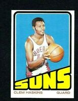 NMT 1972 Topps Basketball #72 Clem Haskins.