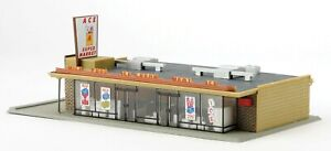 Walthers Life-Like 433-1330 1/87 HO Scale ACE SUPER MARKET Model Structure Kit