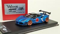 1:64 Veloce Ferrari 488 LB Performance Zero Sen Rally Blue ignition kyosho