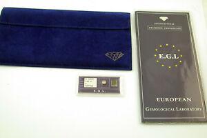 2x Brillant a 1,08 ct Karat Zertifikate certificate diamond champagne IF sealed