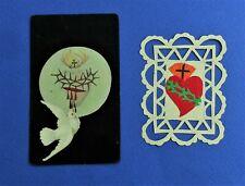 Santino Holy Card Canivet Manufatto Sacro Cuore Gesù 2 pezzi