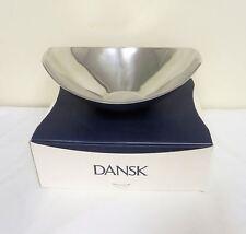 New Dansk Classic Fjord Metal Medium Boat Bowl 2.5qt/2.4L 827811