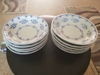 LOT OF 10 WILLIAMS-SONOMA GRAND CUISINE BLUE AND WHITE PORCELAIN CHINA BOWLS