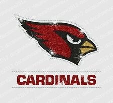 NFL:  Arizona Cardinals - Bling - Iron-on Glitter Vinyl/Rhinestonel Transfer