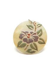Moderna Plata 925 De Madre Perla Flor Con Estampado De Disco Colgante 9,2 G
