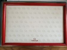 Vintage Omega Wood & Leather Shop Display Tray - Very Rare & Highly Collectable