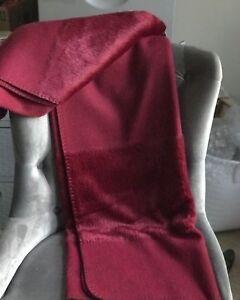 Nicole Miller Home Luxury Faux Fur Throw Blanket Red Burgundy NEW