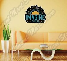 "Everything You Can Imagine Is Real Creative Wall Sticker Interior Decor 25""X22"""