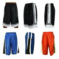 Men Basketball Shorts Mesh Quick-Dry Gym Workout Running with Side 2 Pockets
