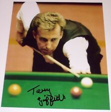 TERRY GRIFFITHS SNOOKER PERSONALLY HAND SIGNED 10X8 AUTOGRAPH PHOTO