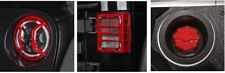 Red Elite Tail Light Headlight Guard Kit With Gas Cap for Jeep Wrangler JK 07-18