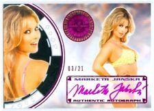 "MARKETA JANSKA ""PINK AUTOGRAPH CARD #03/21"" BENCHWARMER VEGAS BABY 2014"