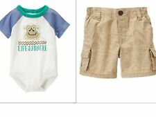 GYMBOREE NWT RAINFOREST CRAWL KING OF THE JUNGLE INFANT BOYS OUTFIT 18-24 MONTHS