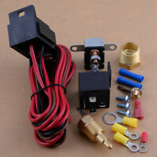 175 185 Degree Engine Cooling Fan Thermostat Temperature Relay Switch Sensor Kit