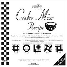 MISS ROSIE'S QUILT CO~CAKE MIX RECIPE 6~44 SHEETS 4 LAYER CAKE PAPER PIECING