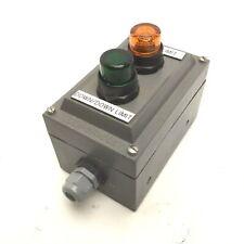 Allen Bradley 800H-2HZ4R Push-Button Enclosure w/ 2x Push-Buttons *Has Holes*