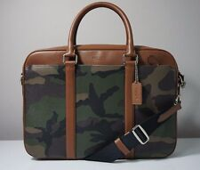 Coach Perry Green Camouflage Slim Briefcase in Printed Coated Canvas F55136