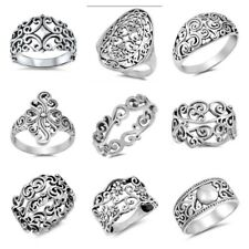 """NEW DESIGNS STERLING SILVER - """"FILIGREE"""" RINGS SIZES 5-12"""