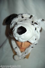 Girl Boy Plush Faux Fur Animal Hat Fleece Lined Dalmation Dog One Size Fits Most