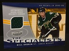 BILL GUERIN 2006-07 UD Power Play The Specialists GAME USED JERSEY Card BLUES