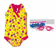 JumpN Splash Girls Yellow Ladybug One-Piece w/Goggles (4)