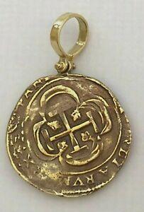 ATOCHA Coin Pendant 925 Sterling Silver Antique Gold Treasure Shipwreck Coin