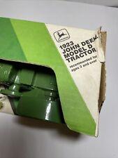 Ertl Diecast Green John Deere Tractor Toy 1:24, 1923 Repro Model D, Cast Iron