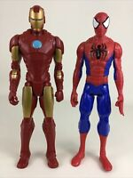 "Avengers Titan Hero Series Spider-Man Iron Man 12"" Figures 2013 Marvel Hasbro"