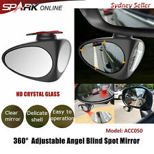 360° Rear View Adjustable Blind Spot Car Mirror Wide Angle HD Glass Convex CT050