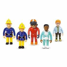 NEW FIREMAN SAM 5 ARTICULATED FIGURES NURSE FLOOD, PENNY, SAM, TOM & NORMAN SET