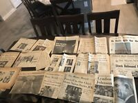 Collection Of Newspapers/Articles From 1963 Kennedy Death, Churchills Death