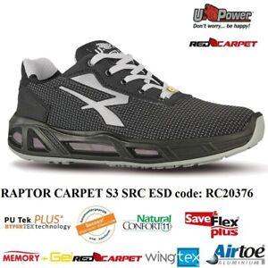 UPOWER SCARPE LAVORO ANTINFORTUNISTICA RAPTOR CARPET S3 SRC ESD U-POWER +