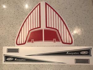 Murray Pedal Car  Boat AMC Navigator Graphics. Skipper, Jolly Roger, Dolphin