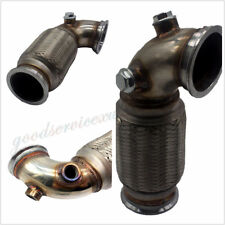 """Stainless Car SUV 90° 3"""" V-Band Downpipe Low Profile Pipe Flex Bellows Universal"""