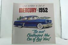 VINTAGE AUTOMOBILE CAR BROCHURE 1952 MERCURY